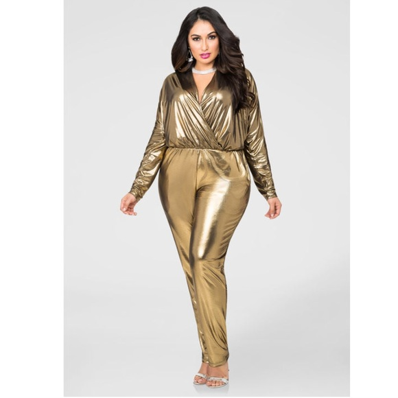 f6e8ecc86e2f Gold Metallic Jumpsuit
